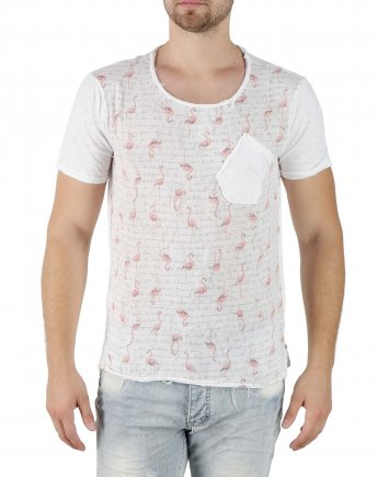 Ανδρικό T-Shirt Pink Flamingo (ΚΩΔ PFL-100)