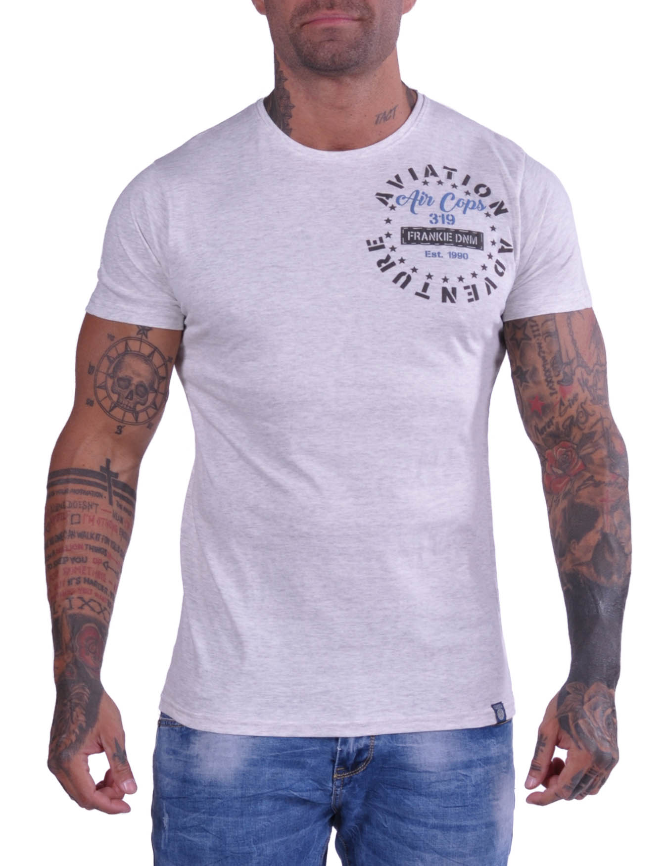 Ανδρικό T-Shirt Aviation adventure (ΚΩΔ 20190004) - FRANKIE DENIM - 20190004