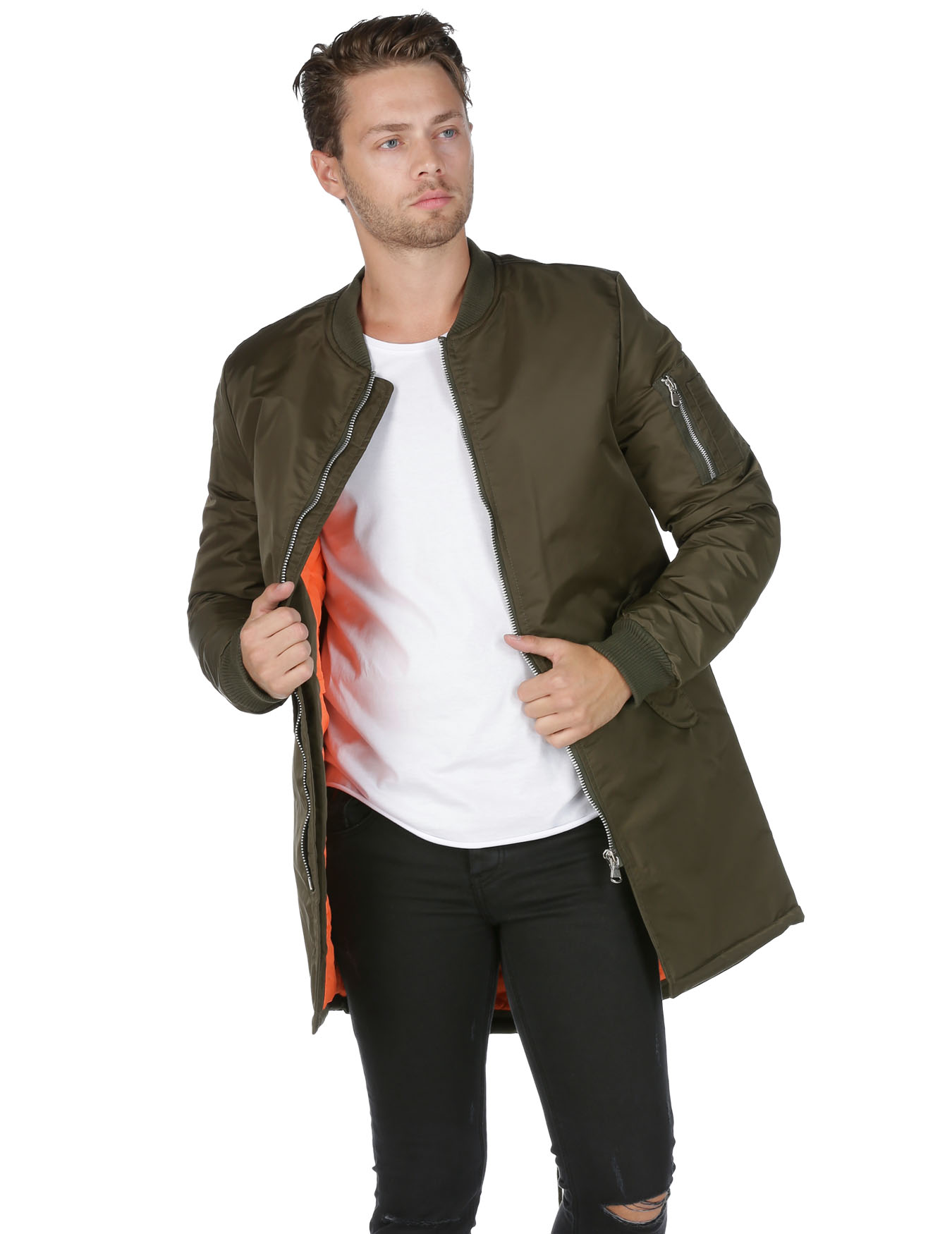 Ανδρικό Bomber Jacket Long-line - VERON - AK-902
