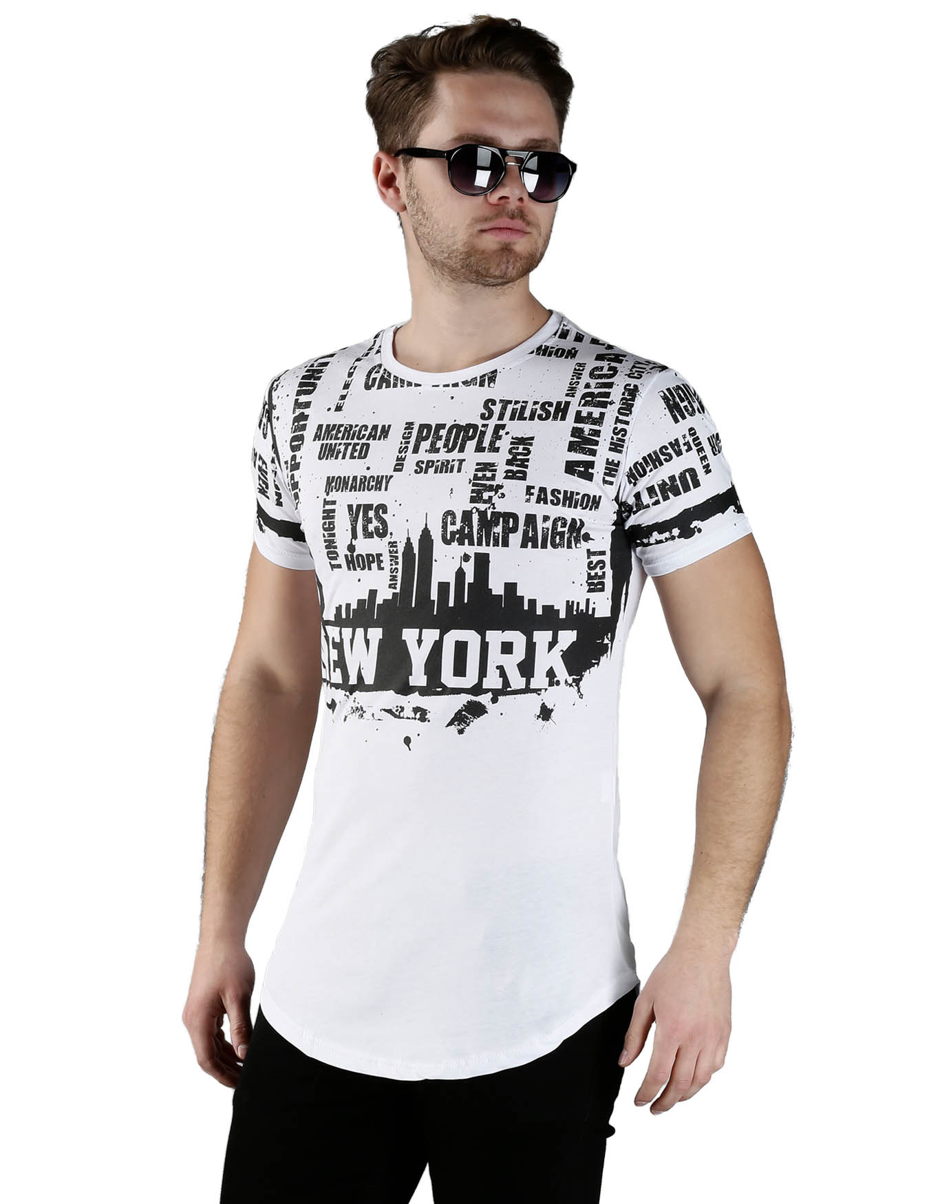 Ανδρικό T-Shirt New York - GRACE-JOHN - 16345