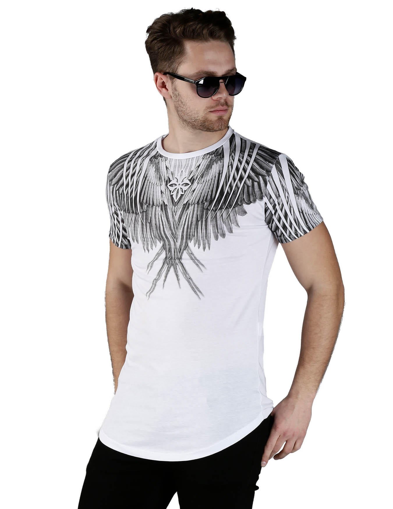 Ανδρικό T-Shirt Feathers - GRACE-JOHN - 16345-EV03