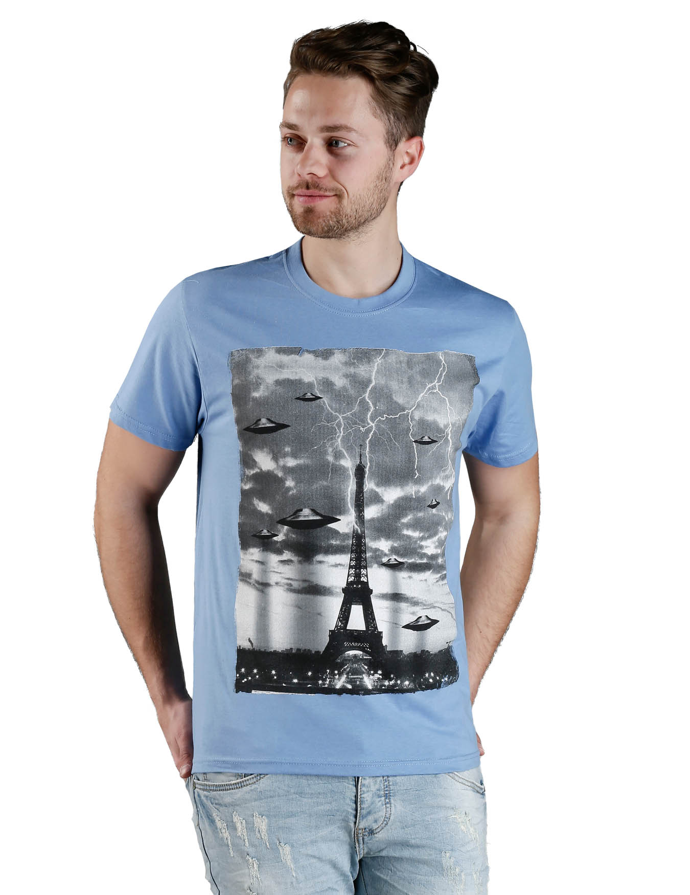 Ανδρικό T-Shirt Tour Eiffel Invasion - PLAY4TWO - L60017