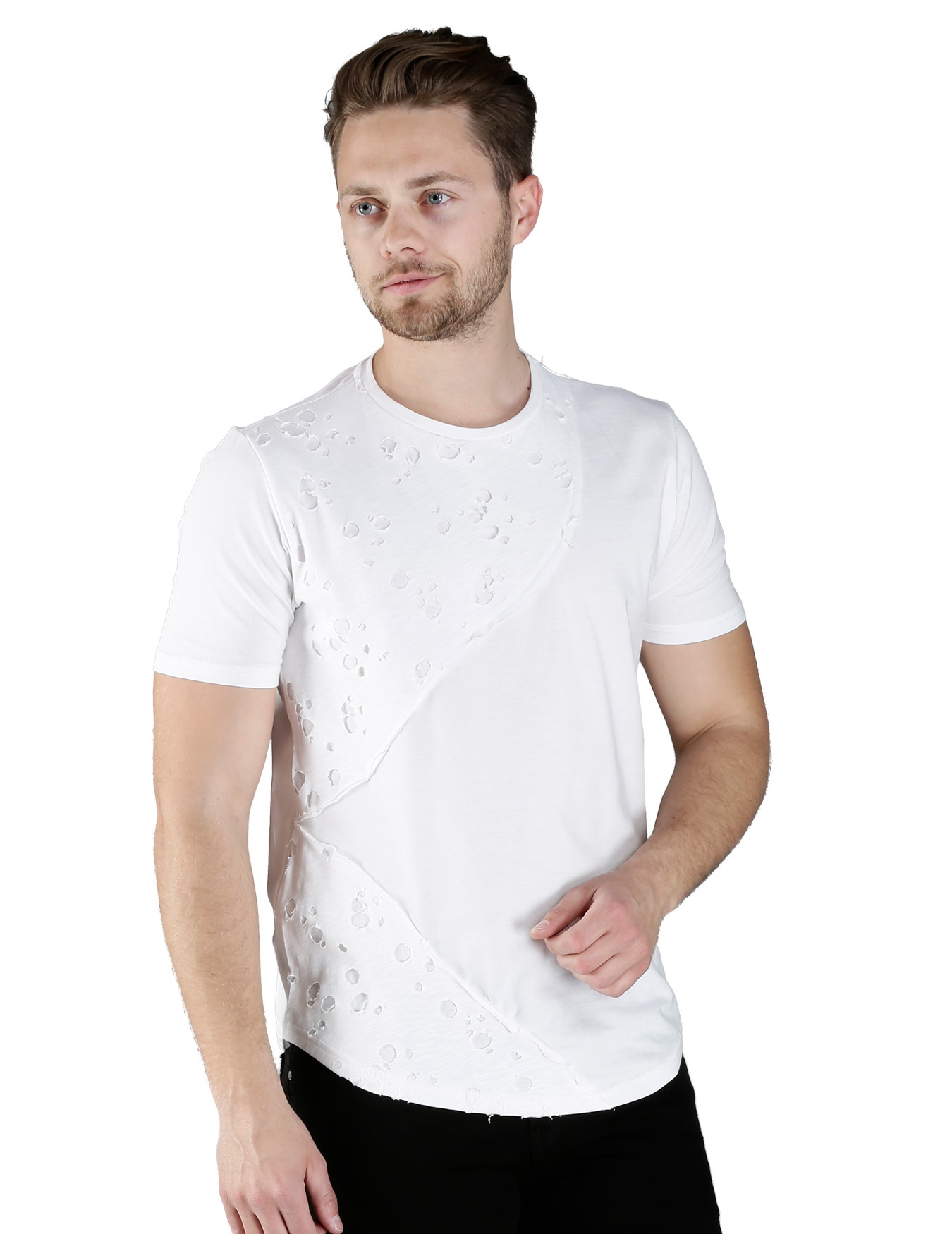 Ανδρικό T-Shirt Holes on Front - FREE WAVE - 71113-1