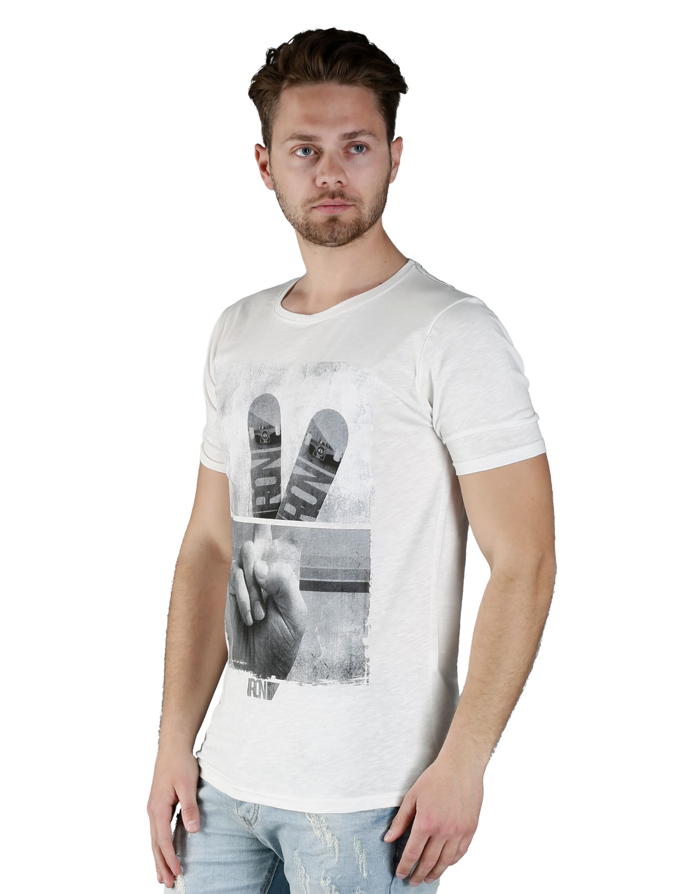 Ανδρικό T-Shirt Skateboard - IRON - IT-100