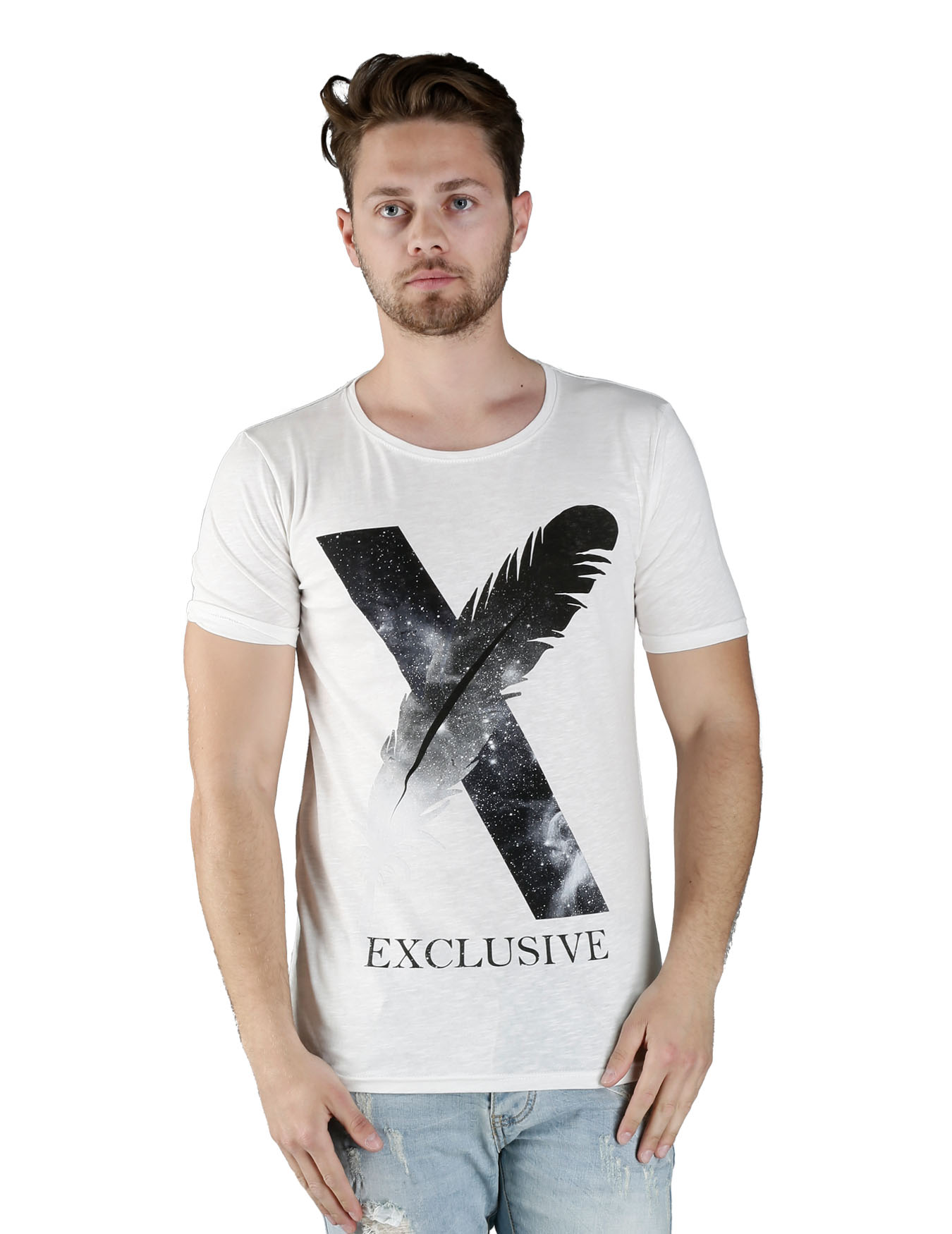 Ανδρικό T-Shirt X Feather - IRON - IT-120
