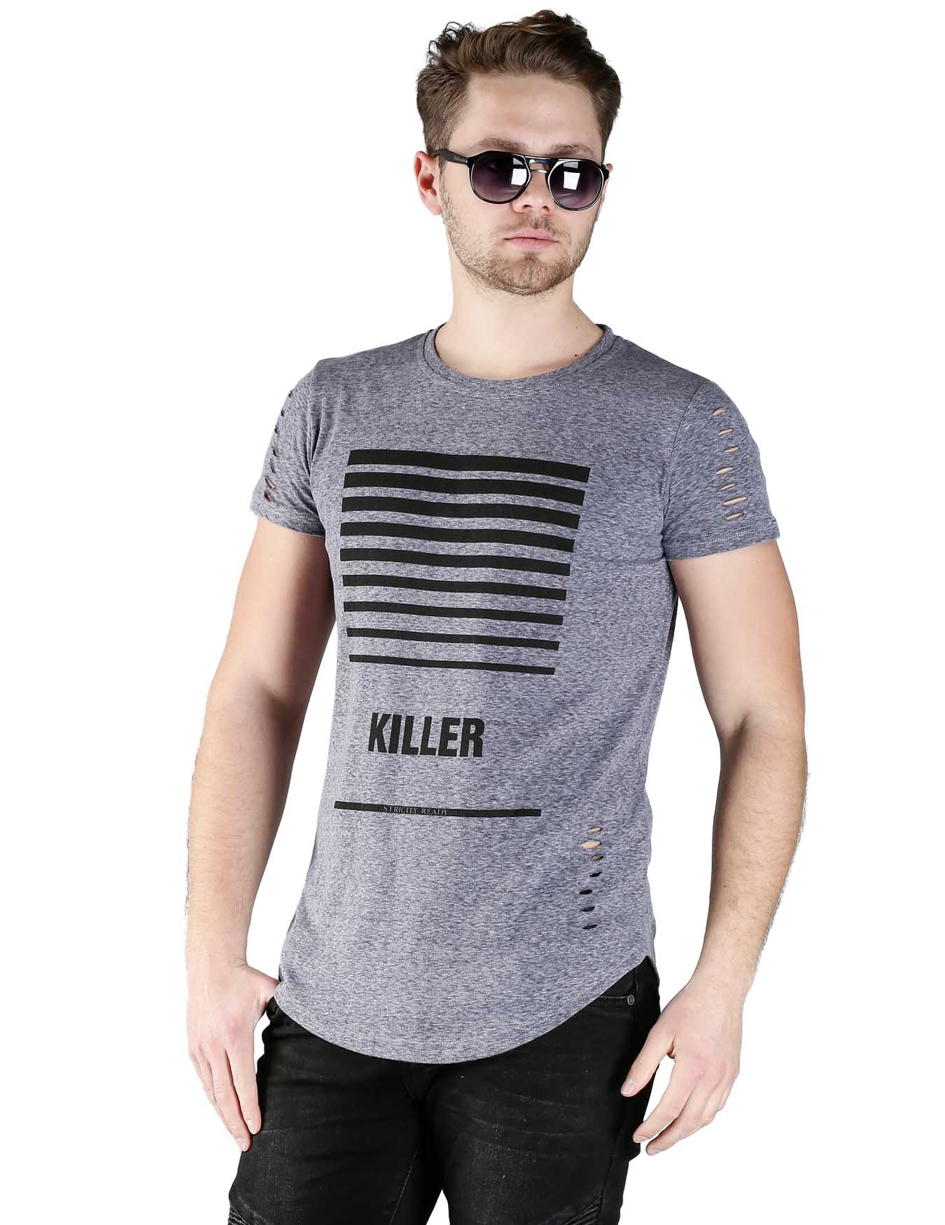 Ανδρικό T-Shirt Killer - GRACE-JOHN - A676