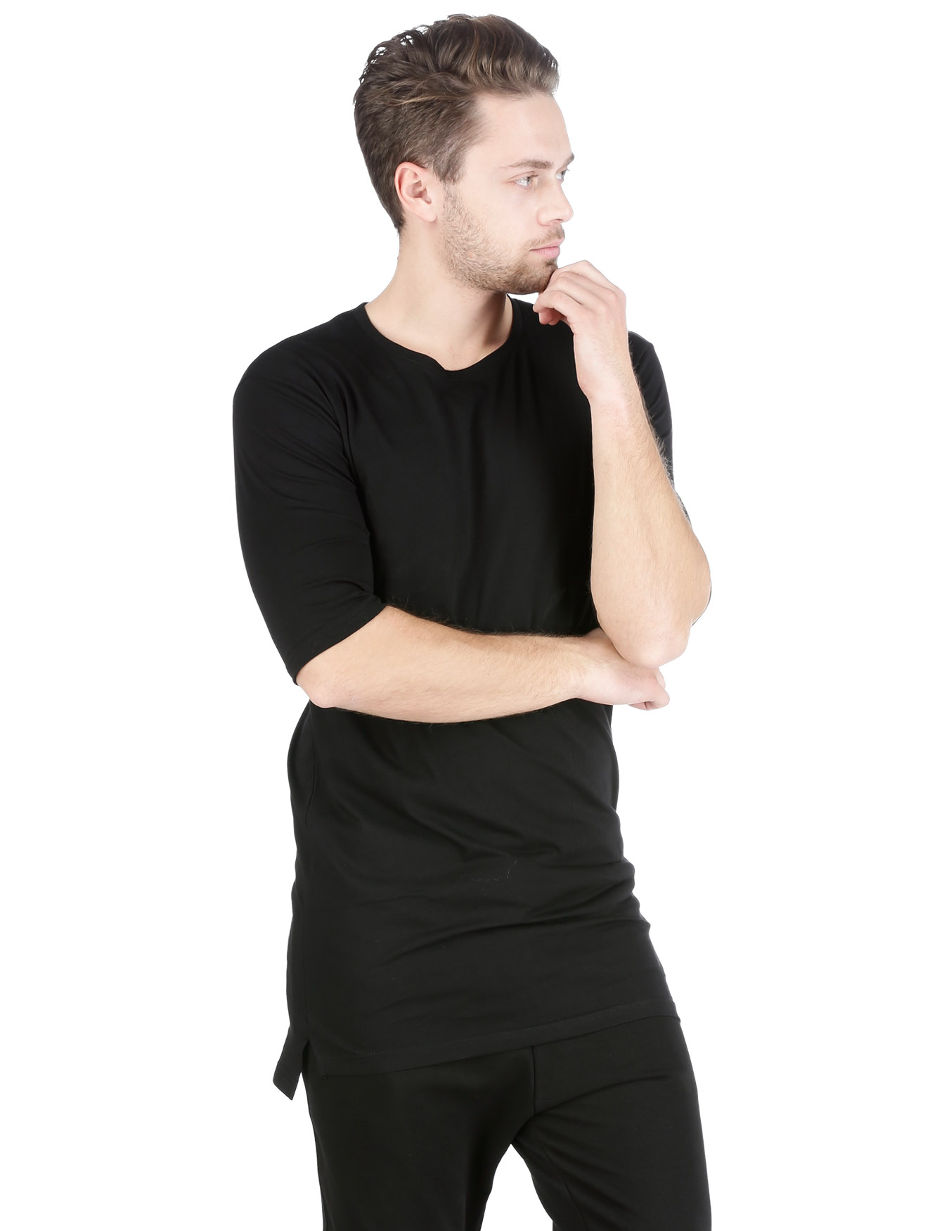 Ανδρικό T-Shirt Black Code - TAF - A1808 BASIC