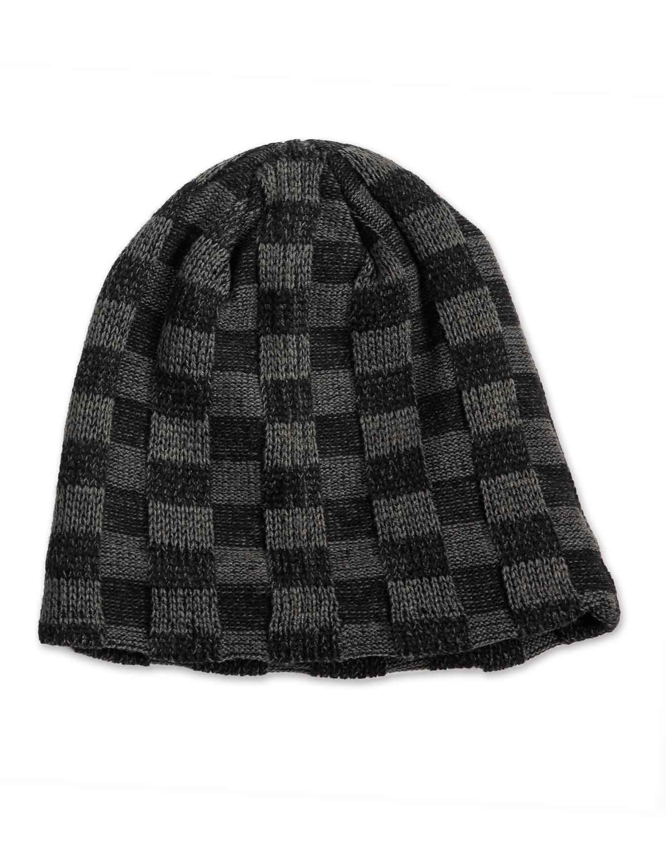 Σκούφος Grey-Black Check - FONEM - B.C.