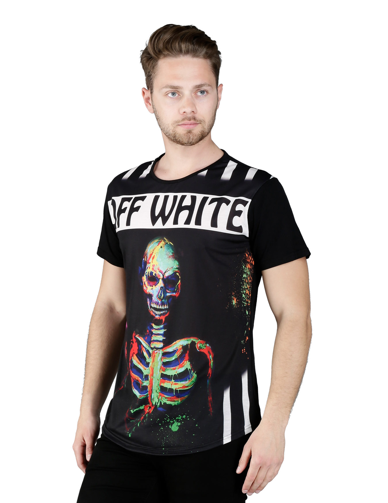 Ανδρικό T-Shirt Neon Scull - OFF-WHITE - OFF-98